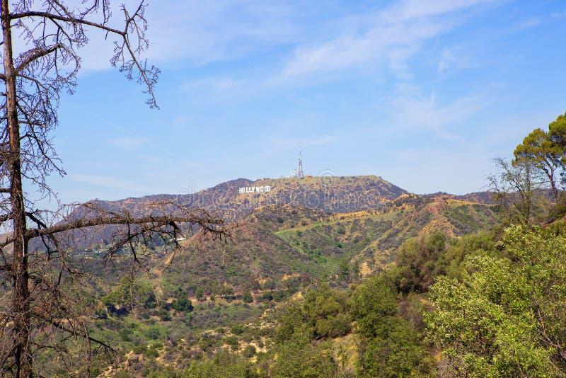 Los Ángeles, los E.E.U.U., vista de la muestra de Hollywood de Griffith Park imagen de archivo libre de regalías