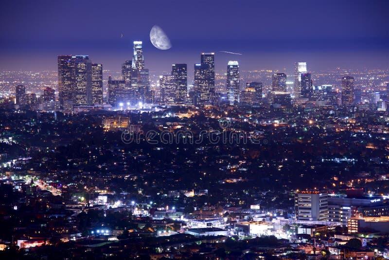 Los Ángeles en la noche fotografía de archivo libre de regalías
