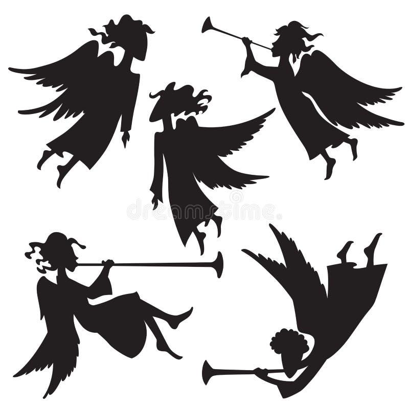 Los ángeles fijaron 3 ilustración del vector