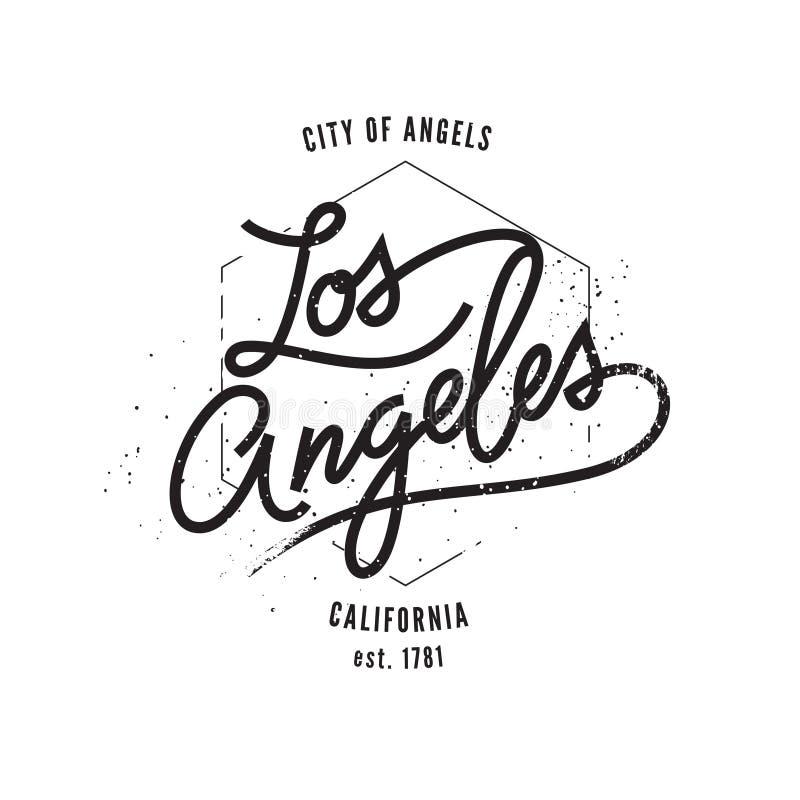 Los Ángeles, impresión tipográfica stock de ilustración