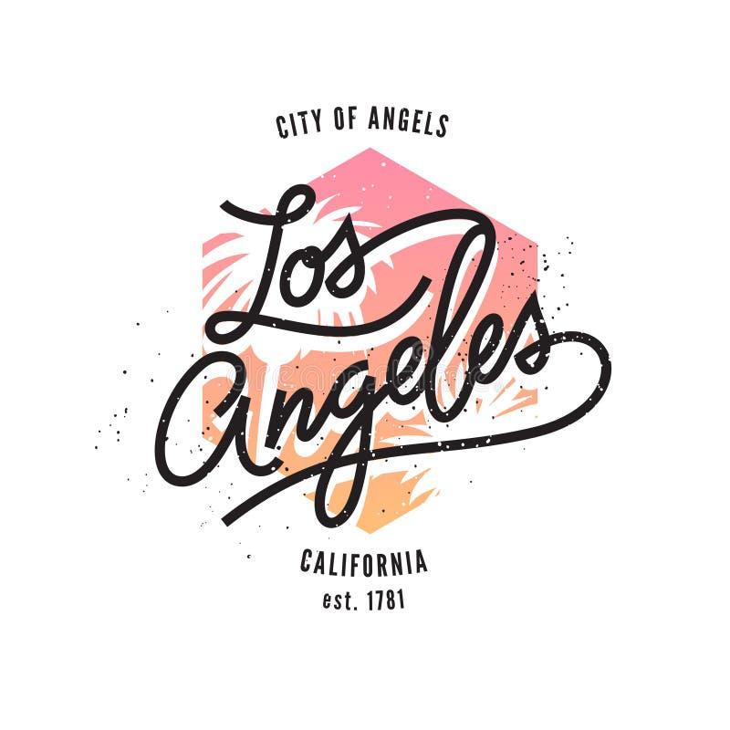 Los Ángeles, impresión tipográfica ilustración del vector