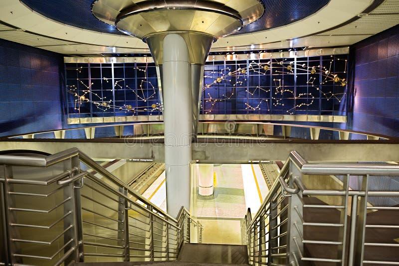 Los Ángeles Línea de Hollywood de la estación de metro imagen de archivo libre de regalías