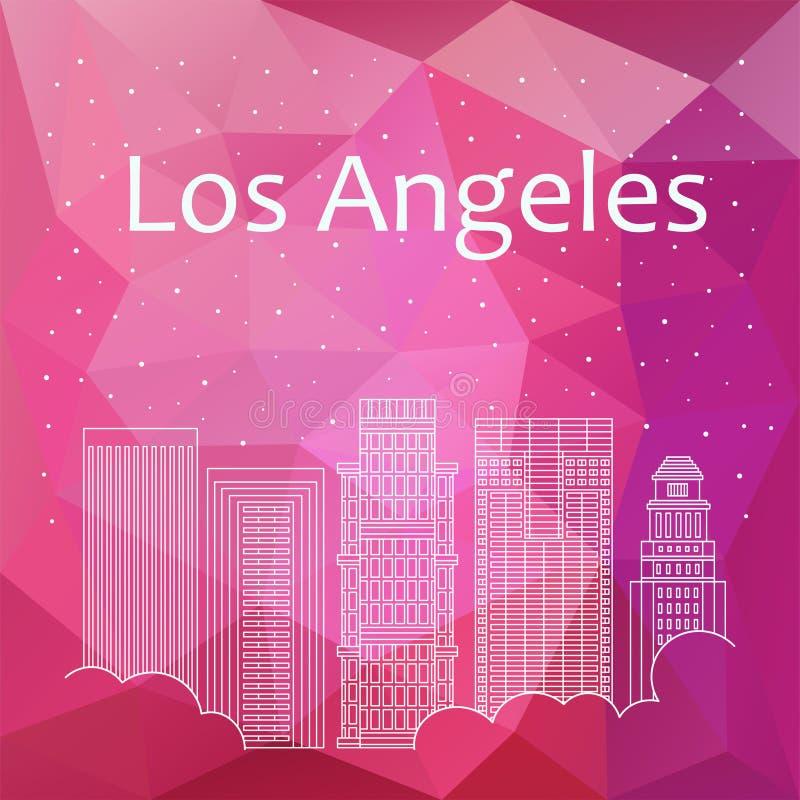 Los Ángeles para la bandera, cartel, ejemplo, juego, fondo stock de ilustración