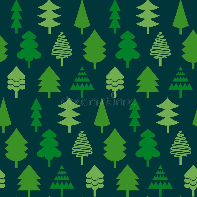 Los árboles de navidad vector el modelo inconsútil Textura para los papeles pintados, libre illustration