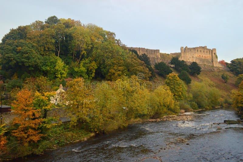 Los árboles del otoño por el swale y la Richmond del río se escudan fotografía de archivo libre de regalías