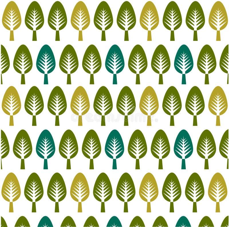 Los árboles modelan, tarjeta floral, fondo floral libre illustration
