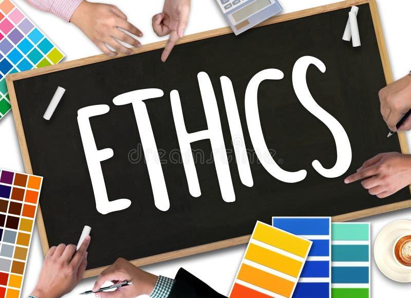 Los ÉTICAS, los ÉTICAS del equipo del negocio, integridad de la ética empresarial honesta ilustración del vector