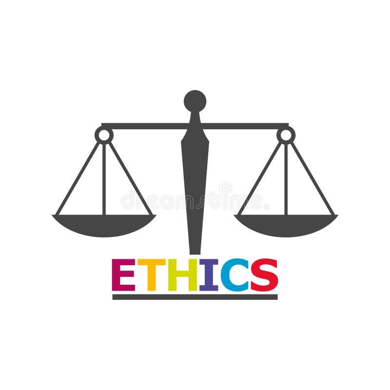 Los éticas redactan, los éticas mandan un SMS, los éticas icono o logotipo stock de ilustración