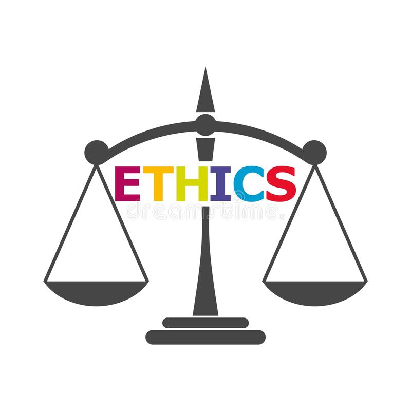 Los éticas redactan, los éticas mandan un SMS, los éticas icono o logotipo ilustración del vector