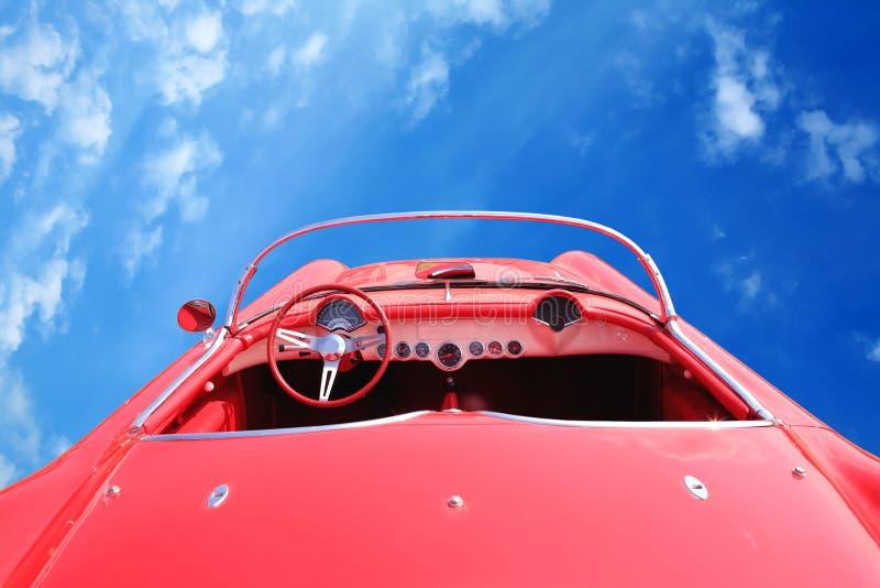 Los años 60 rojos americanos del coche de la vendimia imagen de archivo libre de regalías