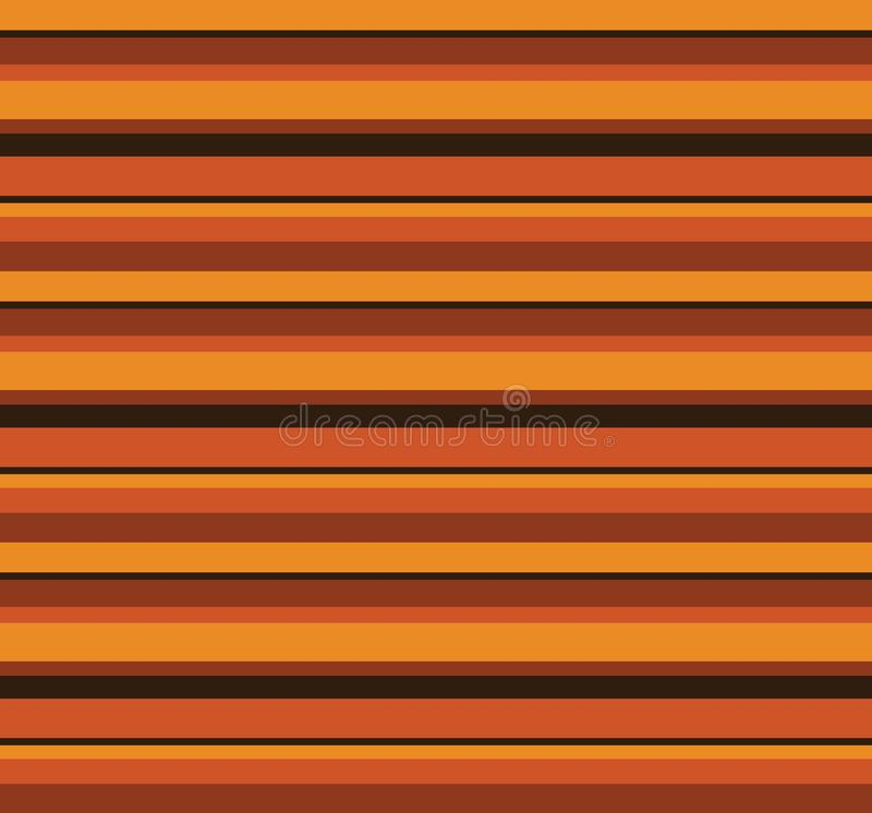 los años 70 Autumn Pattern retro libre illustration