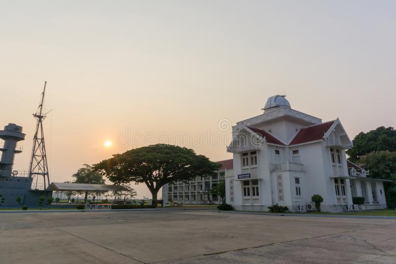 Los 60 años del primer observatorio y planetario en Tailandia fotografía de archivo libre de regalías