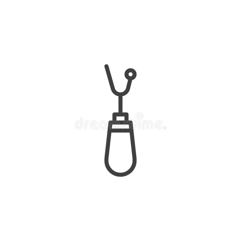 Los accesorios de costura alinean el icono libre illustration