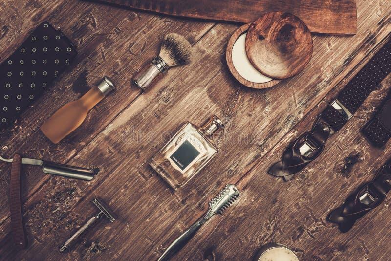 Los accesorios del caballero imagen de archivo