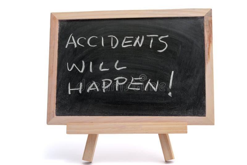 Los accidentes sucederán imágenes de archivo libres de regalías