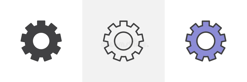 Los ajustes adaptan el icono stock de ilustración