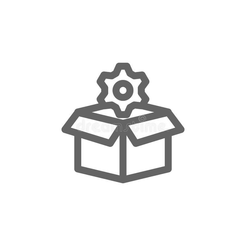 Los ajustes de la caja adaptan el icono Elemento del icono simple ilustración del vector