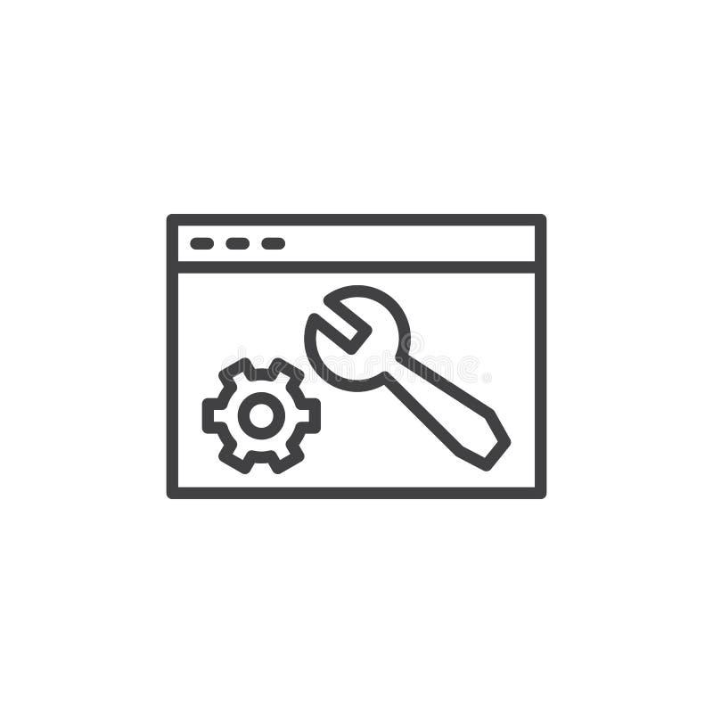 Los ajustes de la web alinean el icono libre illustration