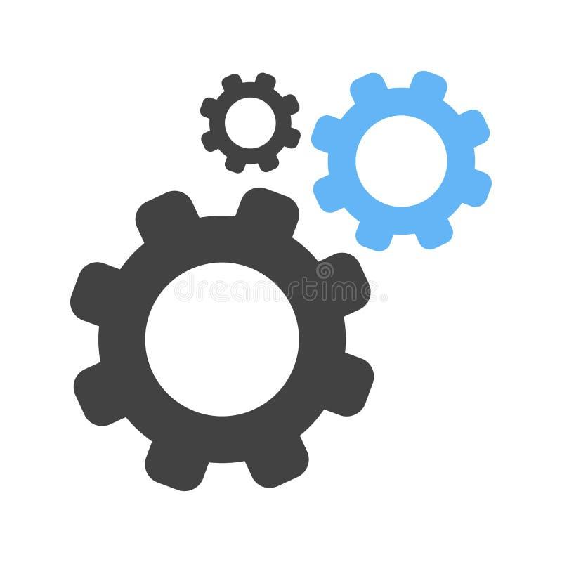 Los ajustes, opciones, configuran ilustración del vector