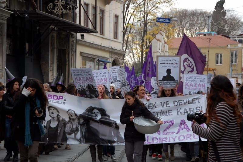 Los alborotos en Estambul fotografía de archivo