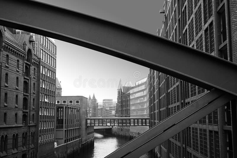 Los almacenes en Hamburgo foto de archivo libre de regalías