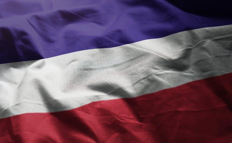 Los altów flaga Miętoszący zakończenie W górę obraz stock