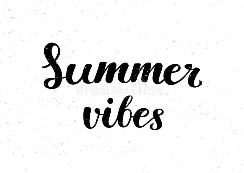 Los ambientes del verano - cepille las letras manuscritas stock de ilustración