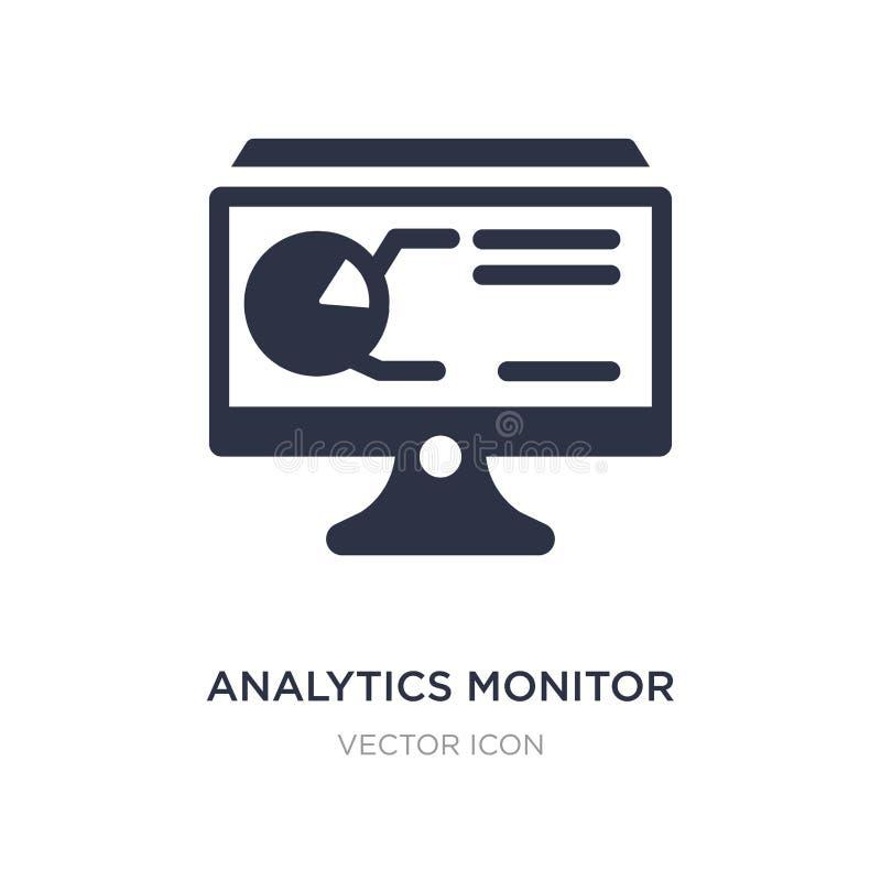 los analytics supervisan el icono en el fondo blanco Ejemplo simple del elemento del concepto del negocio y del analytics libre illustration