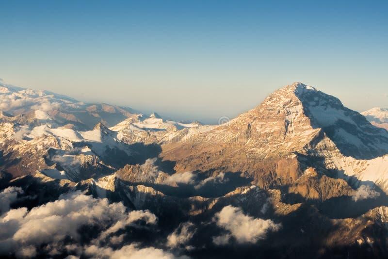 Los Andes en Chile imagen de archivo libre de regalías