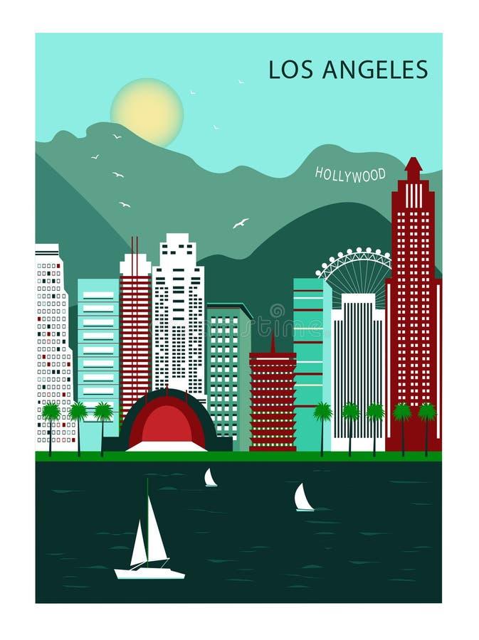 Los Andgeles california royalty illustrazione gratis