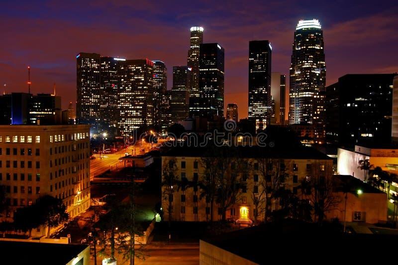 Los Angeles à l'aube photo stock