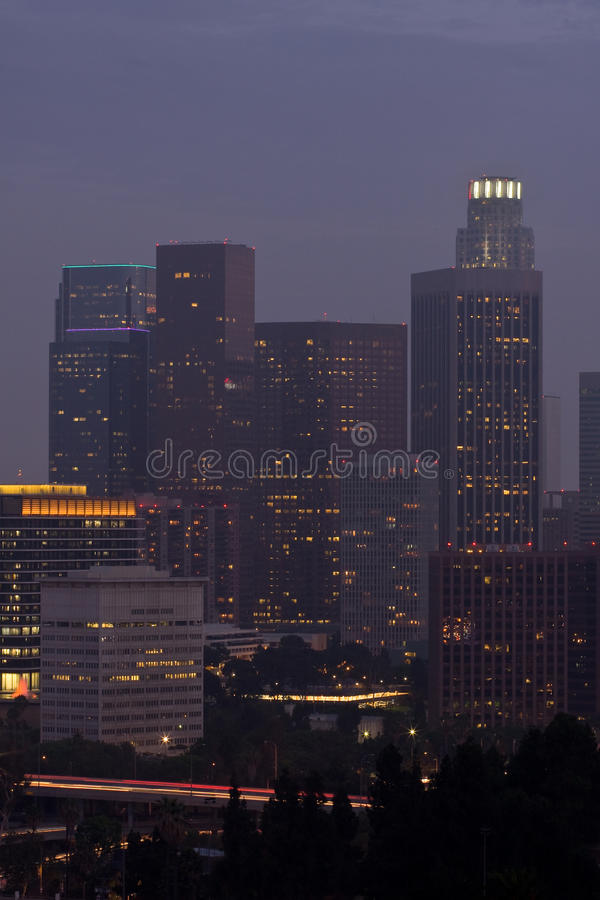 Download Los Angeles stock photo. Image of glowing, evening, center - 15100824