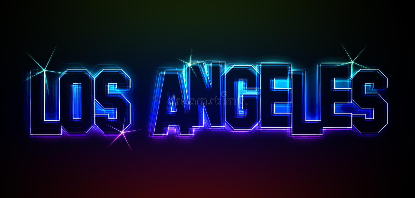 Download LOS ANGELES stock illustration. Image of brightly, night - 25436642