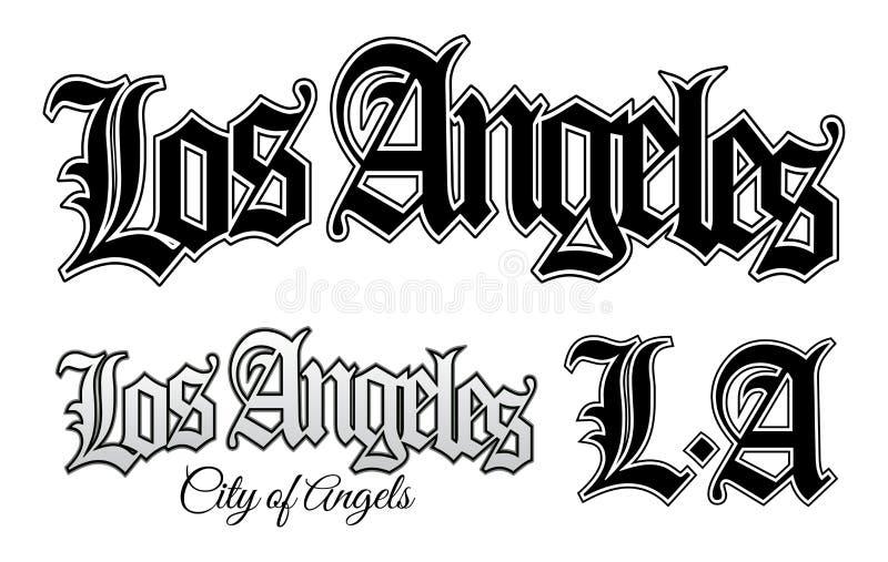 Los Angeles vektor illustrationer