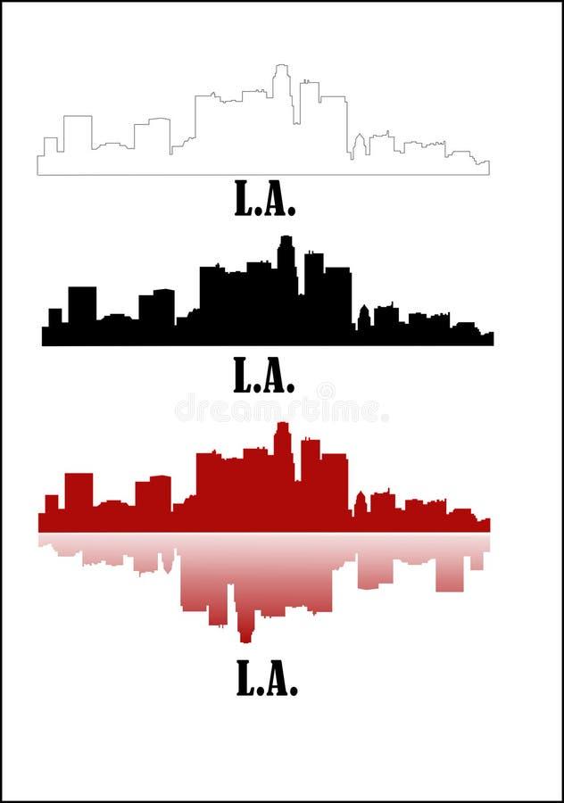Los Angeles illustration stock