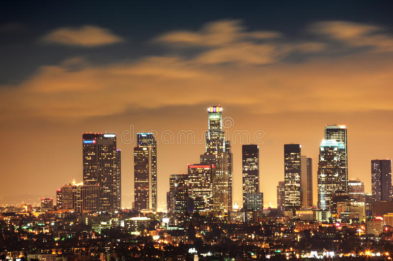 Download Los Angeles stock photo. Image of cityscape, dusk, buildings - 9678602