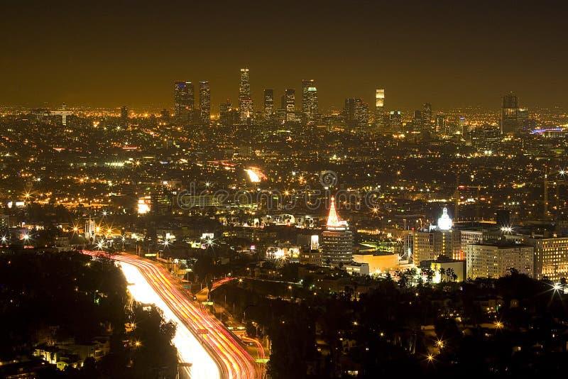 LOS ANGELES AFTON royaltyfria bilder