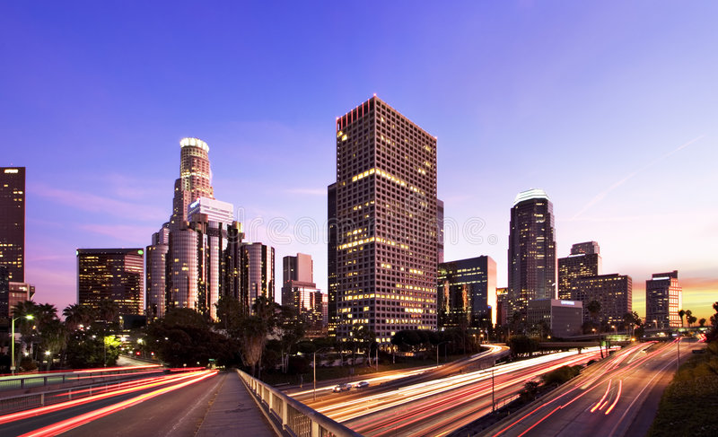 Los Angeles all'ora di punta fotografie stock