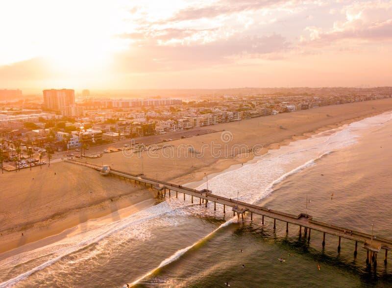 Los Angeles anteny wschód słońca obrazy royalty free