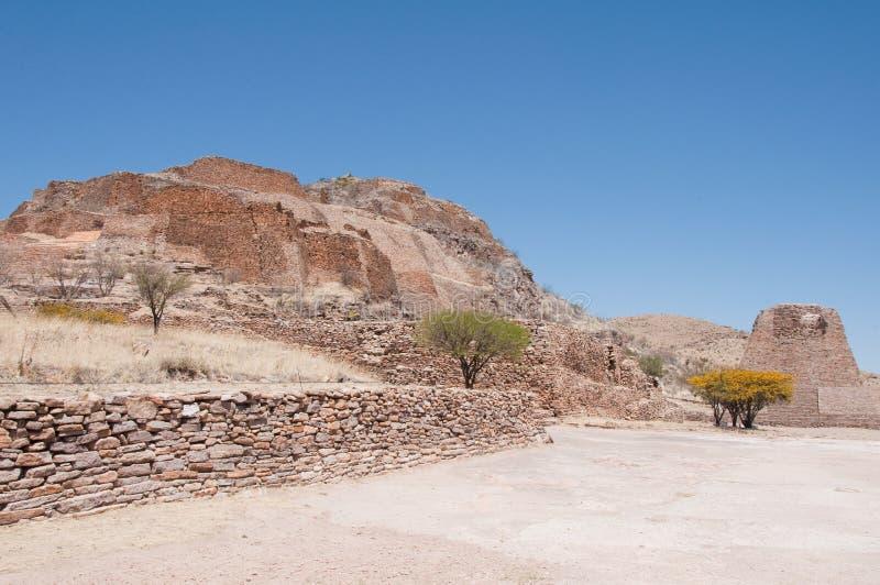 Los Angeles archeologiczny miejsce Quemada, Zacatecas fotografia royalty free
