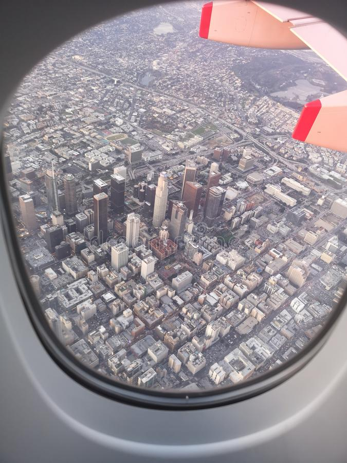 Los Angeles Arial sikt arkivbild