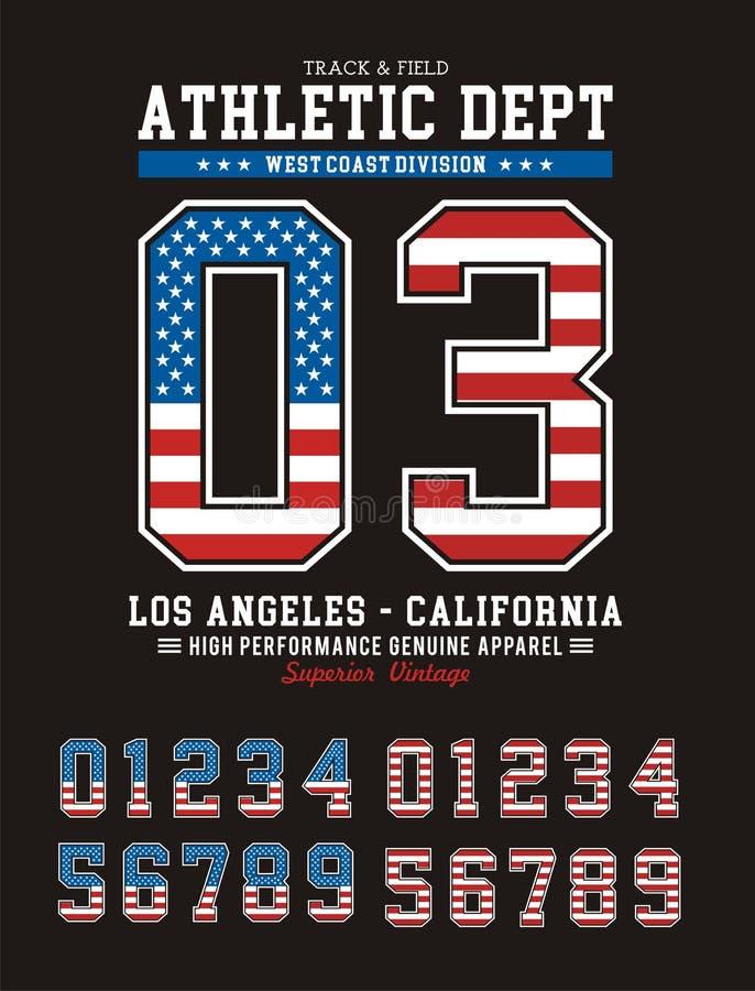 Los Angeles atlética ilustração do vetor