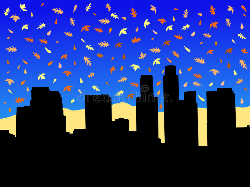 Los Angeles in autunno royalty illustrazione gratis