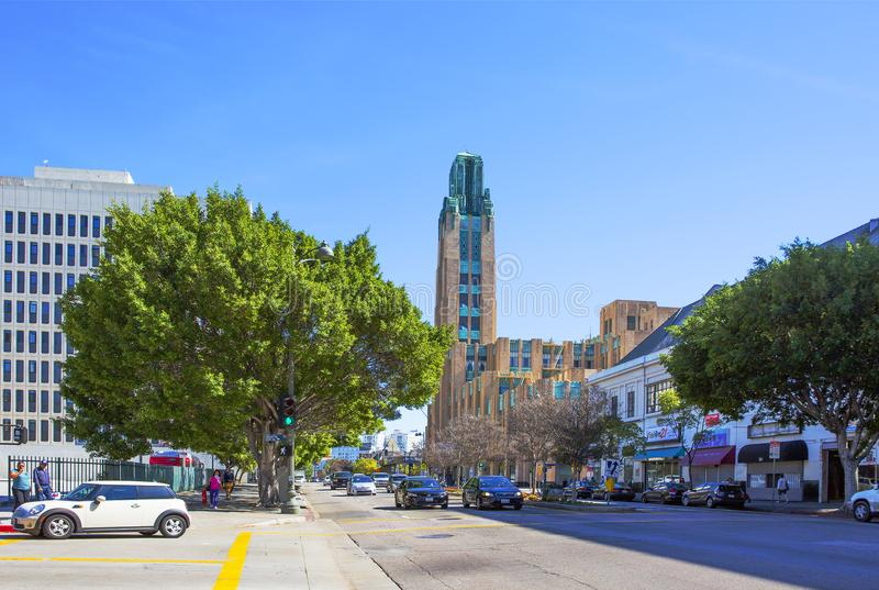 Los Angeles Bâtiment de Wilshire de boeuf de Wilshire de boeuf de bâtiment images stock