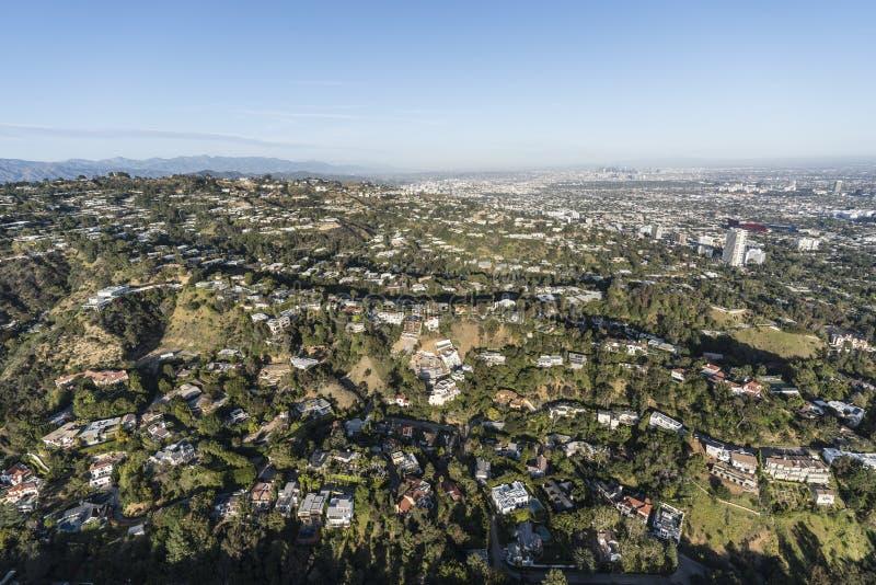 Los Angeles Beverly Hills Canyon Homes fotografering för bildbyråer