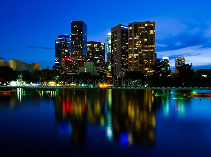 Los Angeles bij nacht royalty-vrije stock foto's