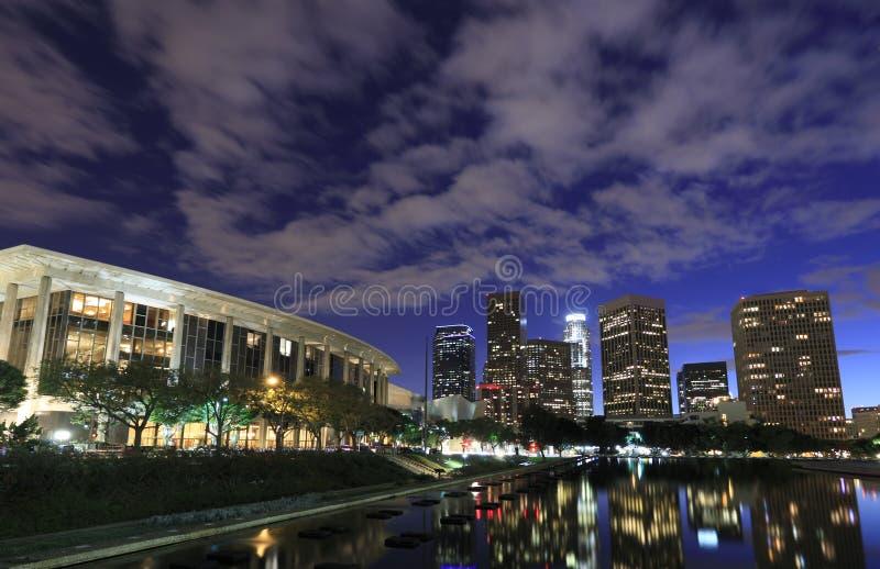 Los Angeles bij nacht stock fotografie