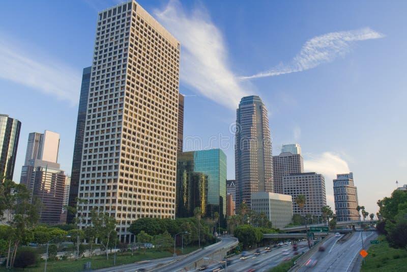 Los Angeles bij zonsondergang royalty-vrije stock fotografie