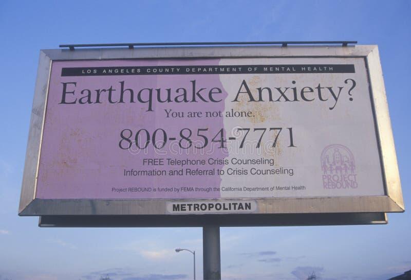 A Los Angeles billboard royalty free stock image