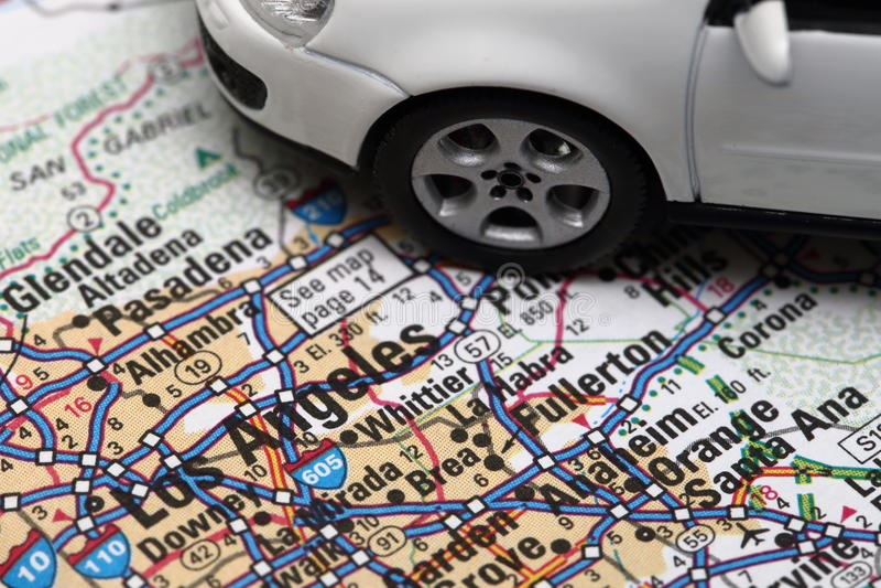 Los Angeles bilstad arkivbilder